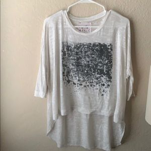 Nation High-Low speckled Tee